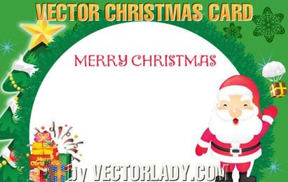 Plantilla de tarjeta postal redonda de navidad