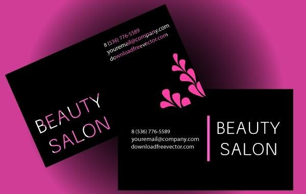 Beauty salon business card vector download beauty salon business card colourmoves