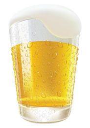Vidrio de cerveza helada de colada realista