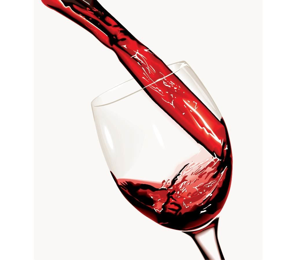 Red Wine Pouring in the Glass - Vector download