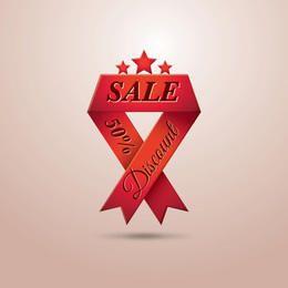 Dreieck faltet rotes Verkaufs-Band