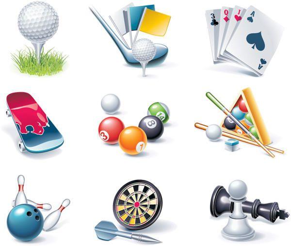 Realistic Sport & Entertainment Element Set