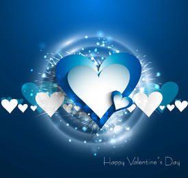 Stylish Splashed Hearts Valentine Background