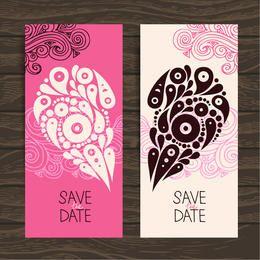 Tarjeta decorativa de San Valentín con dos pliegues creativos