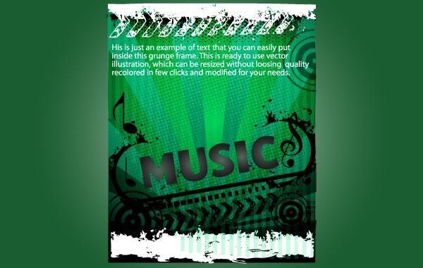 Grungy Green Template Musical Flyer