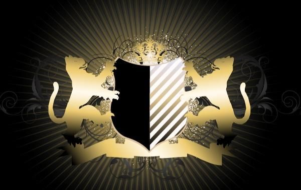Creative Royal Heraldic Shield