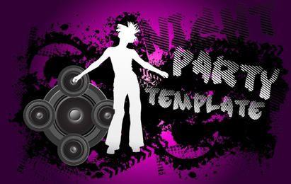 Grungy Flyer musical en blanco y negro