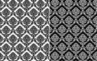 Damasco patrón ornamental inconsútil