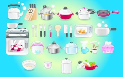 Küchen-Icon-Set