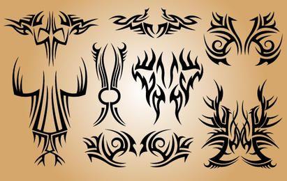 Elegante paquete de tatuaje tribal
