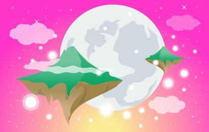 Mundo de ensueño con islas voladoras