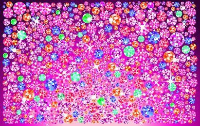 Fondo de joyas de cristal brillante