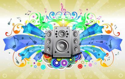 Layout de folheto musical do arco-íris