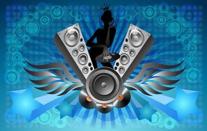 Musical Layout with DJ Girl