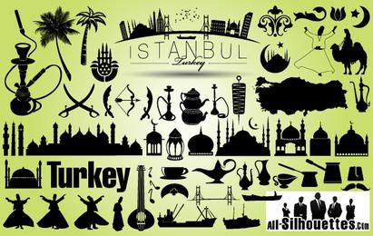 Turkey Istanbul Icon Pack Silhouette