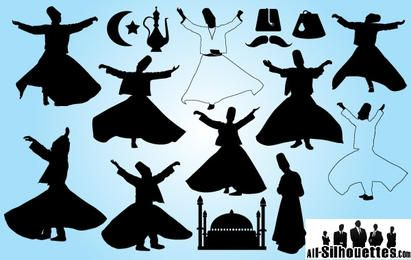 Turkey Dancer Pack Silhouette
