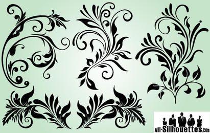 Dekorative Ornamente mit Umrissvariation