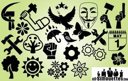 Dia Internacional do Trabalho da Symbol Pack