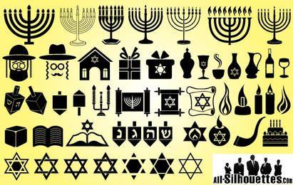 Símbolo Pack para Hanukkah feliz