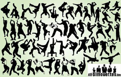 Hip Hop Dancer Pack Silhouette