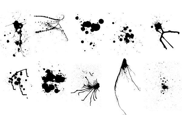 Las salpicaduras vector tinta y pintura descargar vector - Salpicaduras de pintura ...
