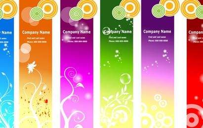 Ads Banners Templates Floral Geometric