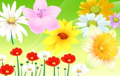 Bunter Blumen-Vektor 2