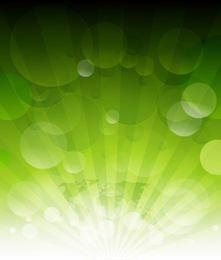 Green Earth Background with Bubbles