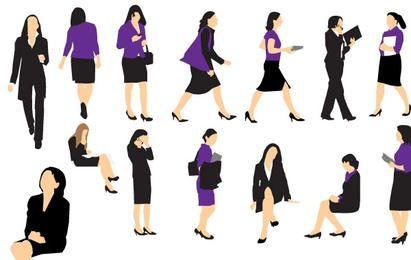 Vetores de mulher de negócios