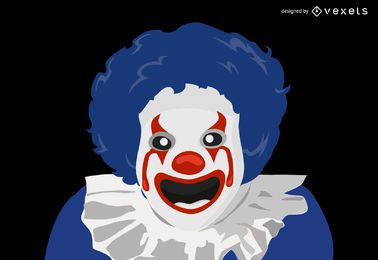 Evil Clown cartoon character