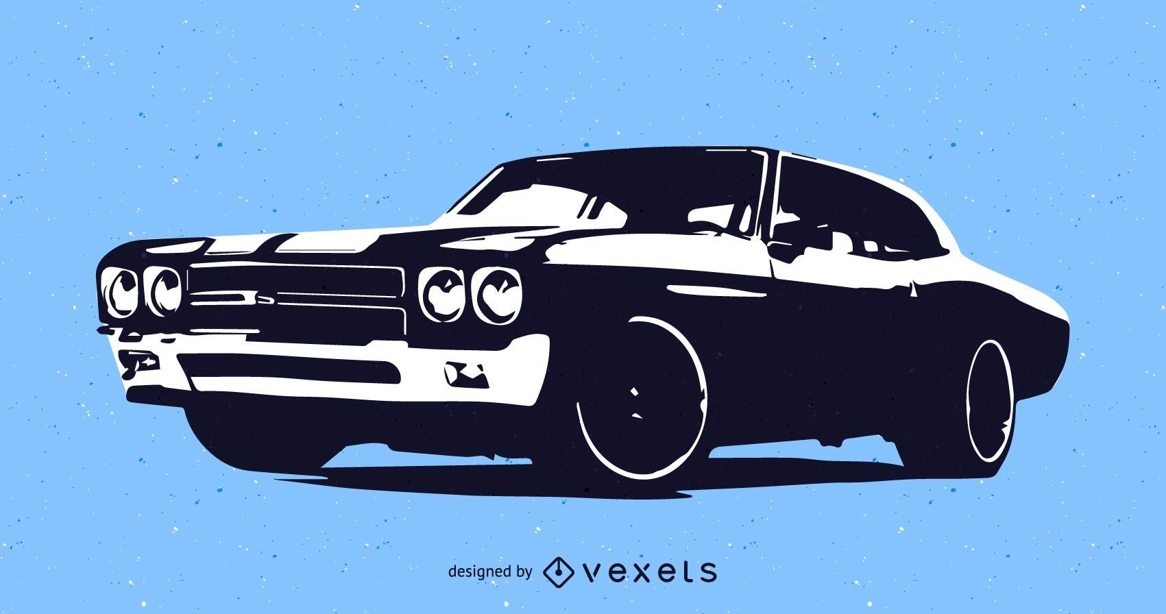 muscle car vector graphic - vector download