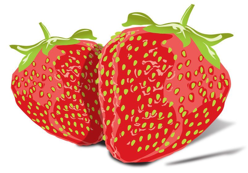 Free Tasty Strawberries Vector Image