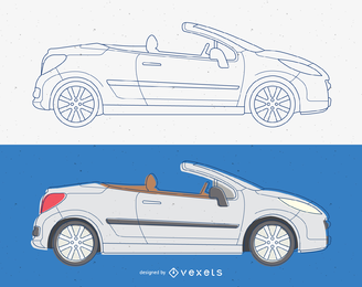 Convertible Cabriolet Car Vector