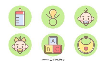 Artículos de bebé gratis vectores