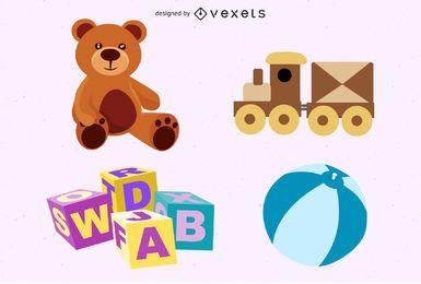Conjunto de vectores de juguetes gratis