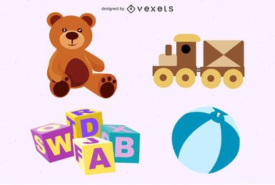 Free Toys Vector Set
