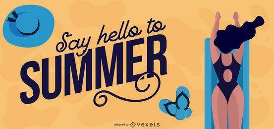 Gráficos vetoriais de verão