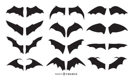 Bat Wing Silhouete Vector Set