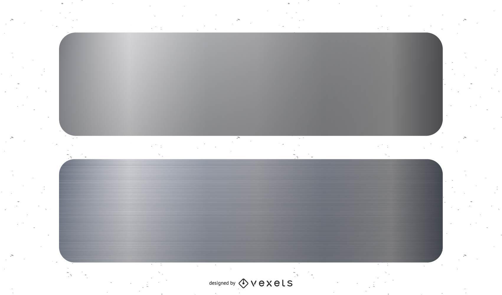 Vector de banner de metal