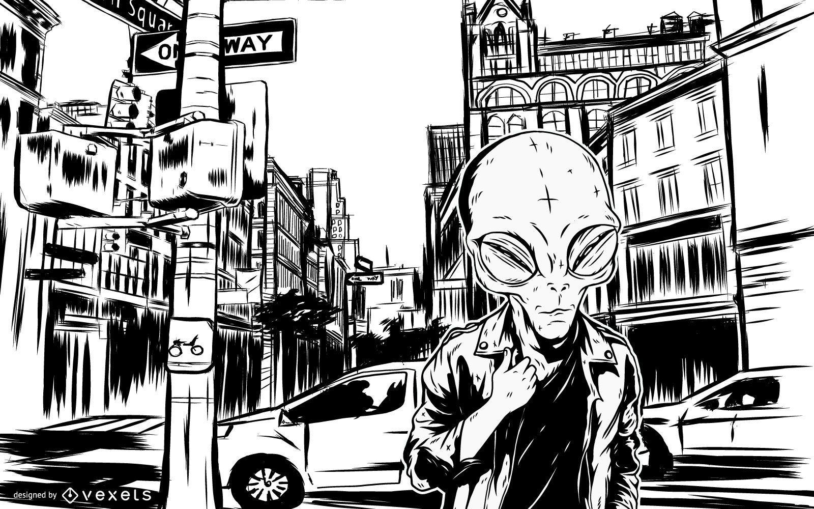 Personaje alienígena 2 - Vector