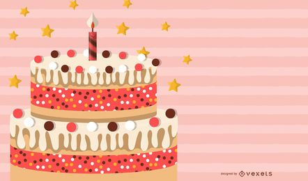 Cake Card background Vector