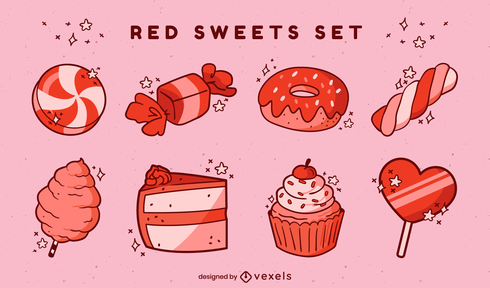 Vector de dulces rojos gratis