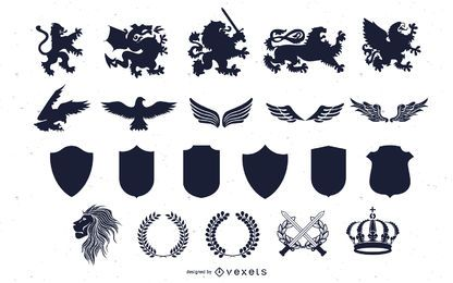 Vector heraldic elements