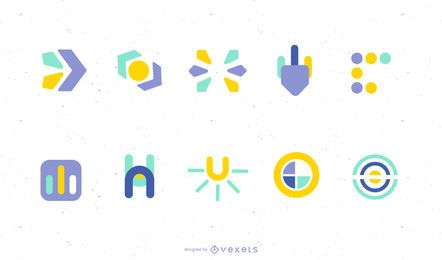 Elementos del logotipo vectorial