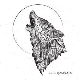 Wütende Wolf-Vektorgrafik