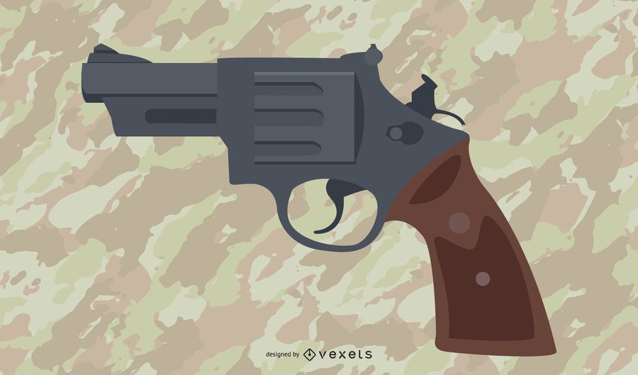 .38 Handgun Illustration