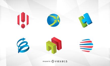 Vector libre del logotipo 3D