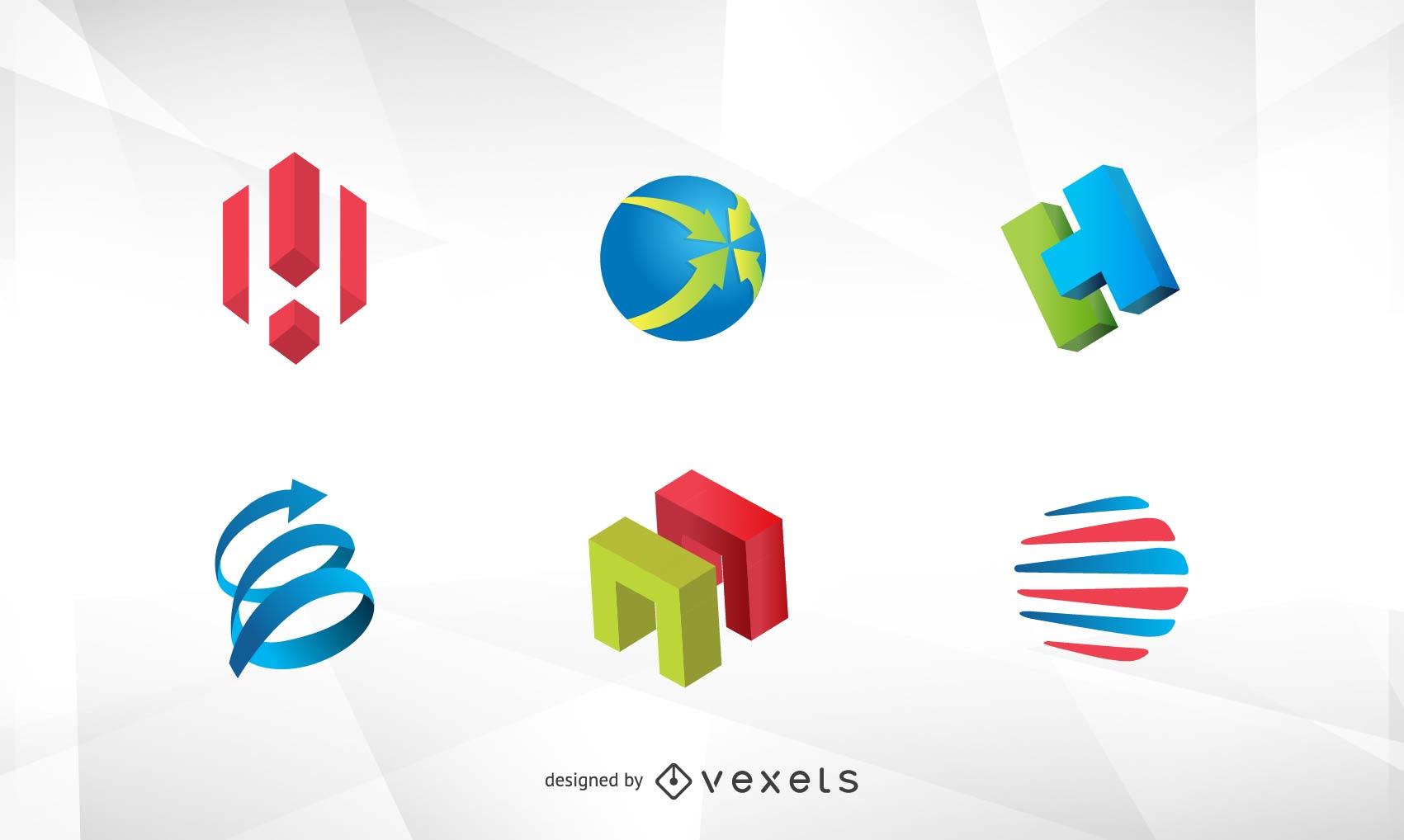 Vetor de logotipo 3D grátis
