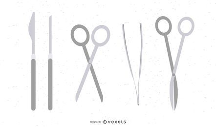 Vector de herramientas de cirugia