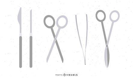Vetor de ferramentas de cirurgia